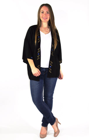 Studded Kimono Style Cardigan - Forever Yours Boutique