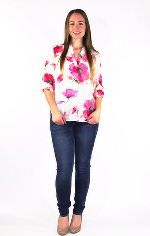 Watercolor Floral Blouse - Forever Yours Boutique
