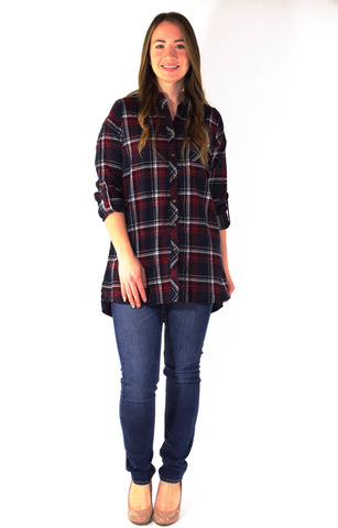 Plaid Button Down Top - Forever Yours Boutique