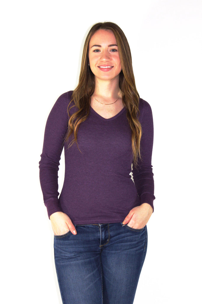 Long Sleeve V-Neck Thermal - Forever Yours Boutique