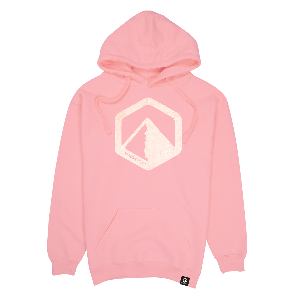 Classic Distressed Logo Hoodie - Pink