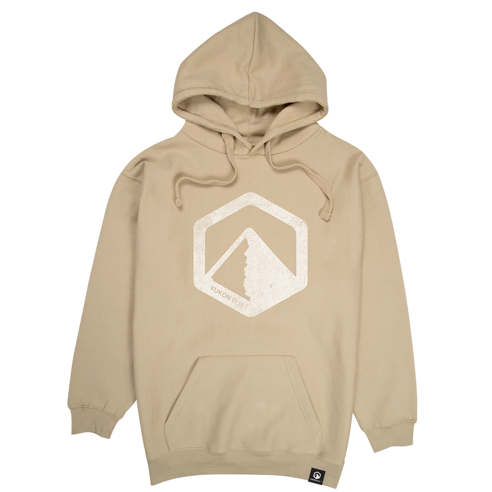 Classic Distressed Logo Hoodie - Sand