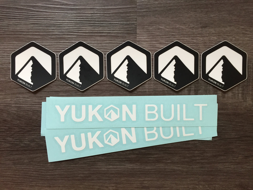 Yukon Built Sticker & Decal 3-Pack
