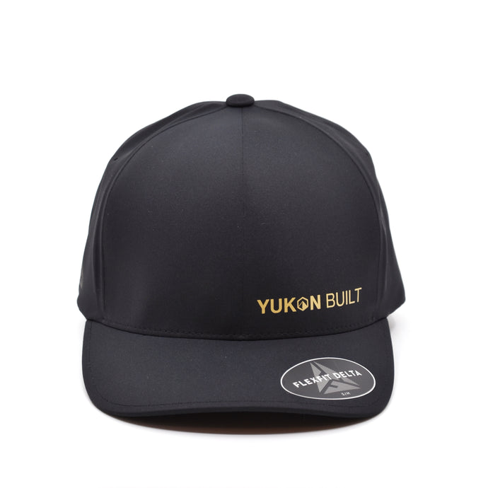 Yukon Built Hat - Performance Flexfit Black/Gold