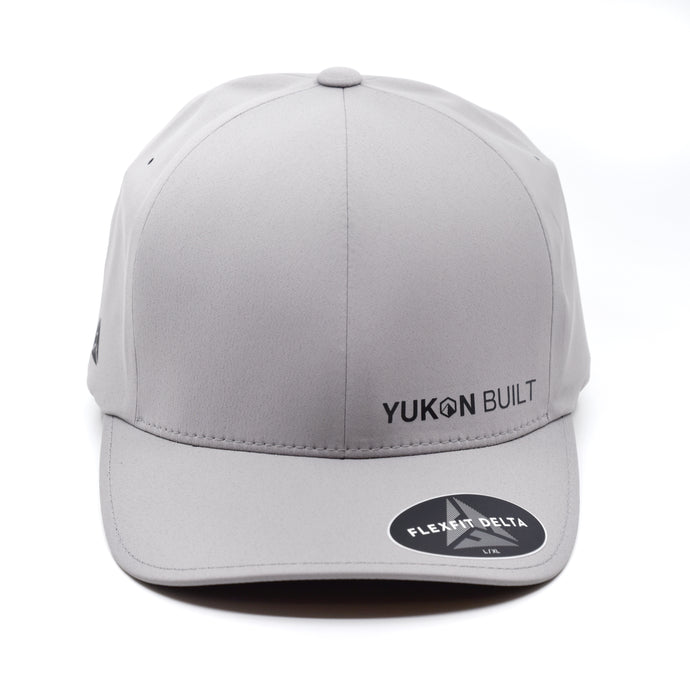 Yukon Built Hat - Performance Flexfit Silver/Black