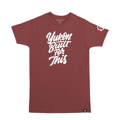 Yukon Built For This Tee - Maroon Heather
