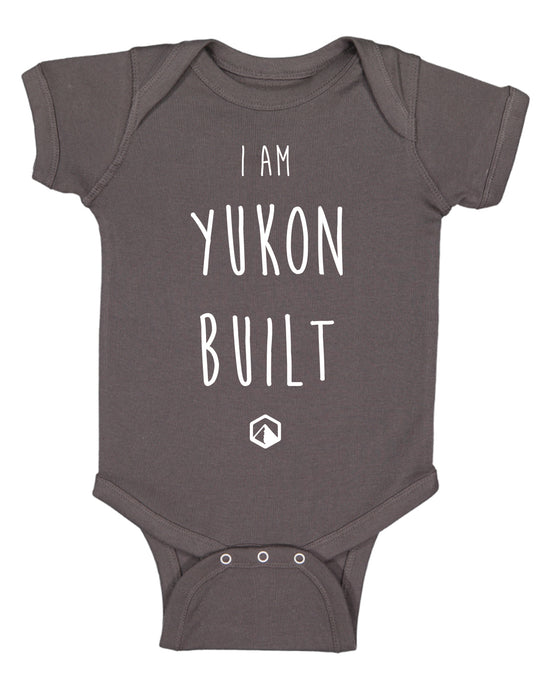 I Am Yukon Built, Baby Onesie - Charcoal