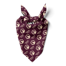 Yukon Built Dog Bandana - Maroon Saloon