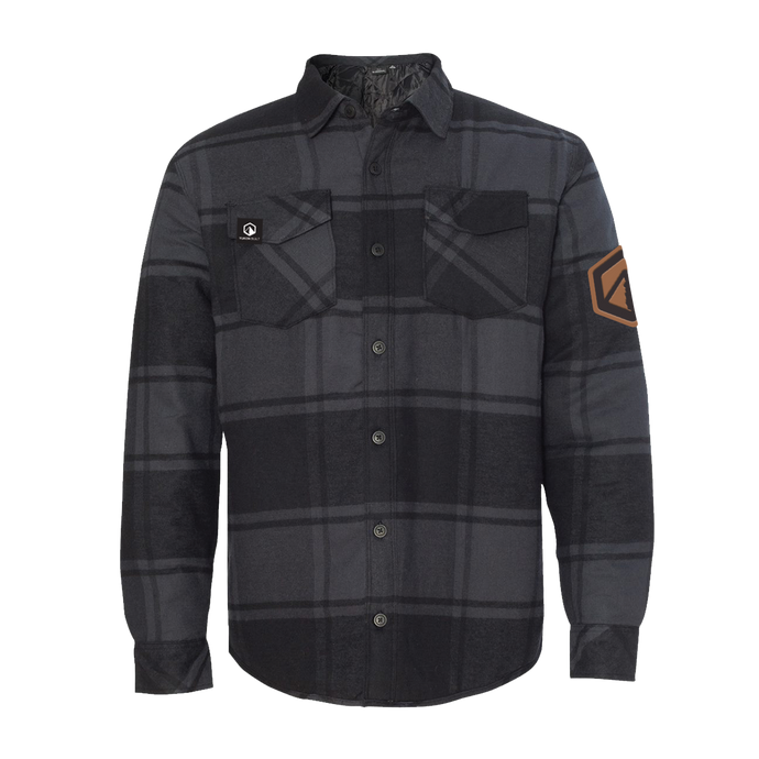 Quilted Flannel Jacket - Black Plaid