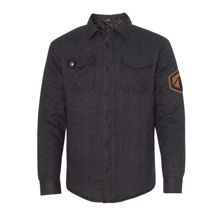 Quilted Flannel Jacket - Charcoal