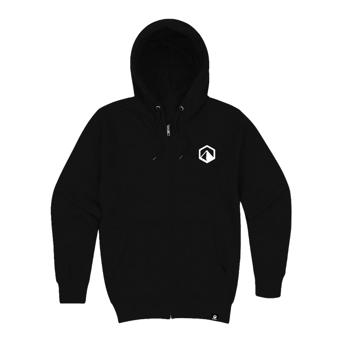 Premium Zip Up Hoodie - Black