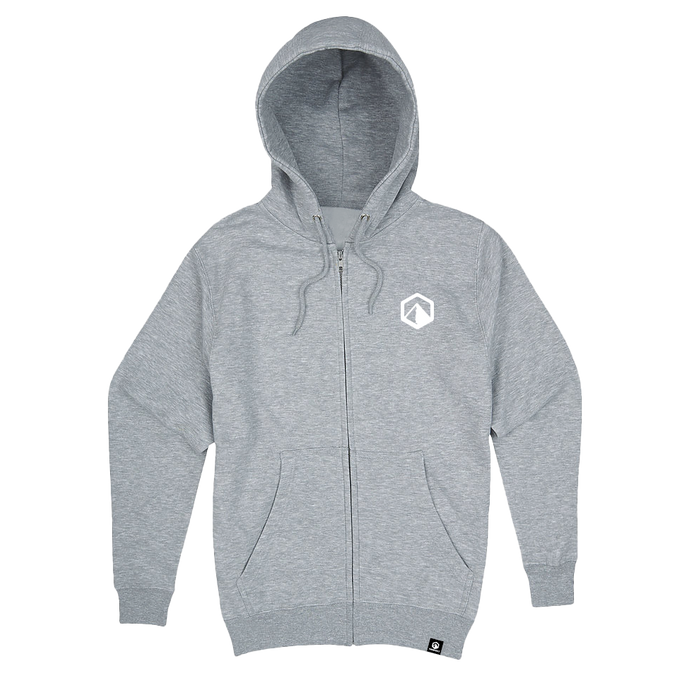 Premium Zip Up Hoodie - Grey