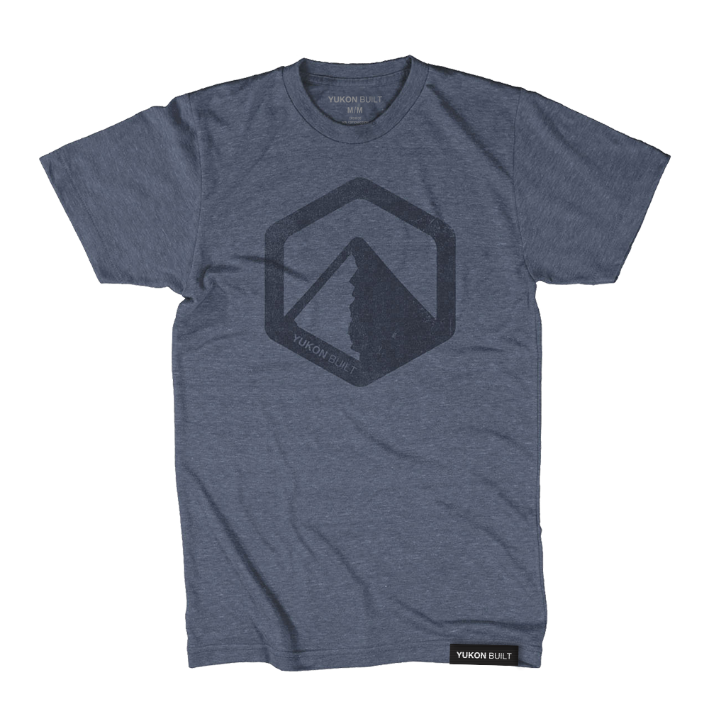 Yukon Built Logo Tee - Navy Heather