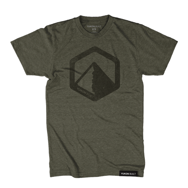 Yukon Built Logo Tee - Olive Heather