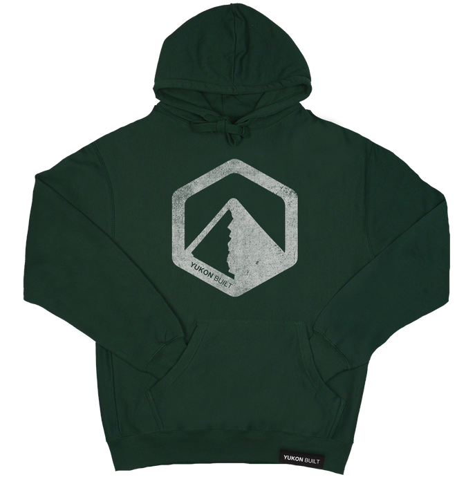 Classic Distressed Logo Hoodie - Forest Green