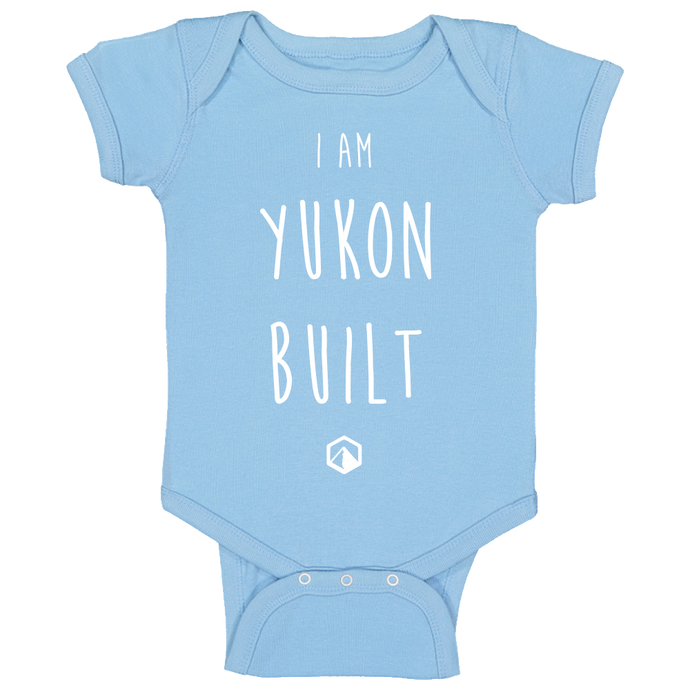 Yukon Built Baby Onesie - Light Blue