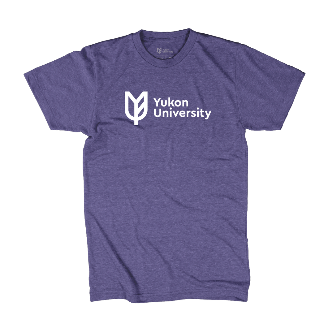 Yukon University Tee, Horizontal Logo - Purple Heather