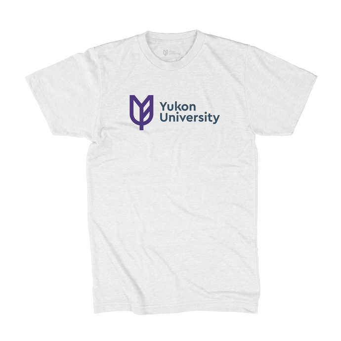 Yukon University Tee, Horizontal Logo - White