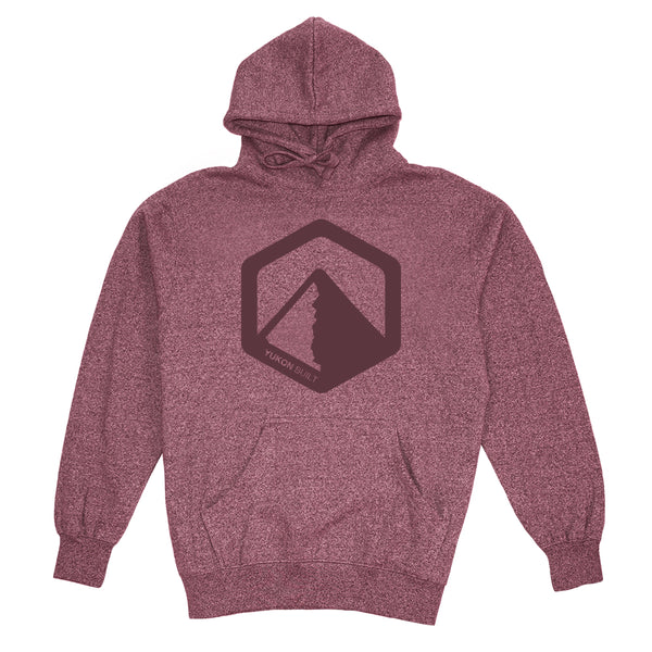 Yukon Built Pullover Hoodie - Maroon Heather