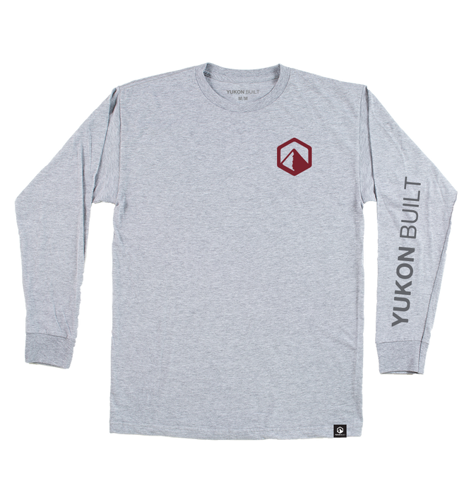 Yukon Built Long Sleeve Tee - Ash Grey