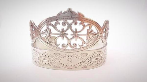 RN-737 Vintage bangle in German Silver with an intricate design for the bold and beautiful