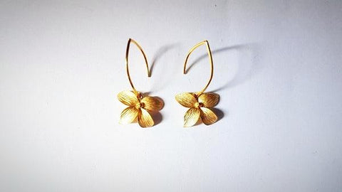 RN-845 Inspired by spring, this earring has a designer flair to it, light weight yet showy when worn due to the unique texture on its petals