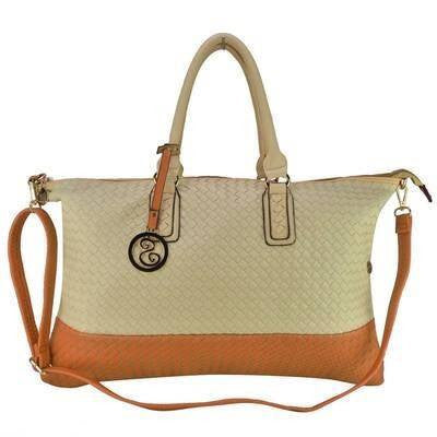 Woven Large Colour Block Handheld Bag - First Impression UK