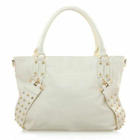 Off White Rivet Diamante Handbag