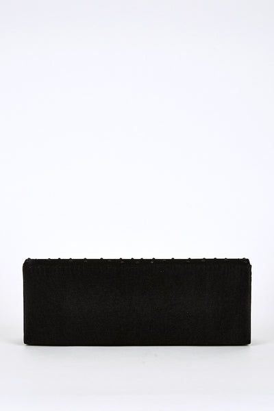 Black Rhinestone Detail Clutch Bag, Evening Bags - First Impression UK