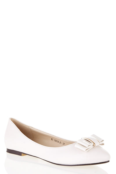 Ballerina Shoes With Bow Detail, Flats - First Impression UK