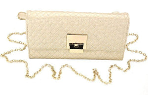 Exquisite Quilted Chain Gold Bag - First Impression UK