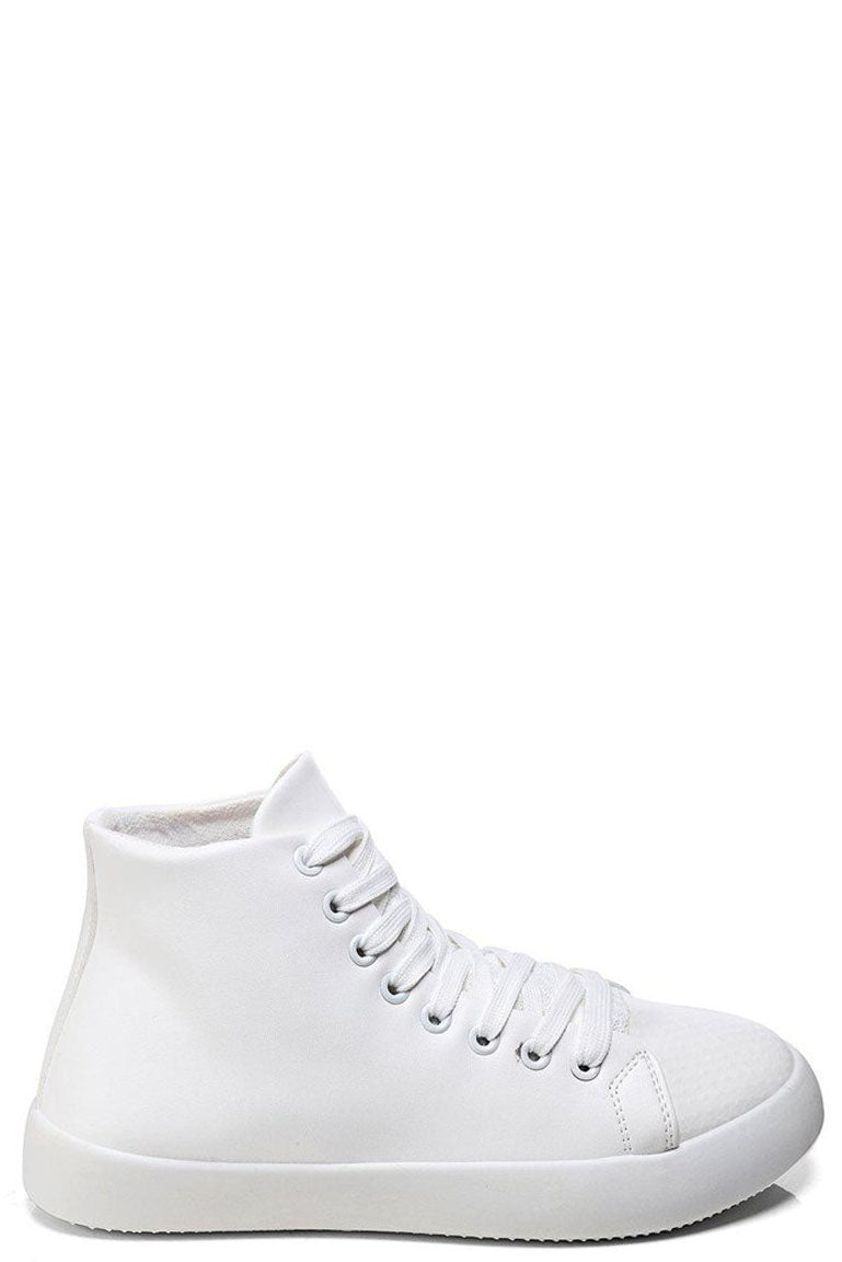 Ladies Hi White Trainers