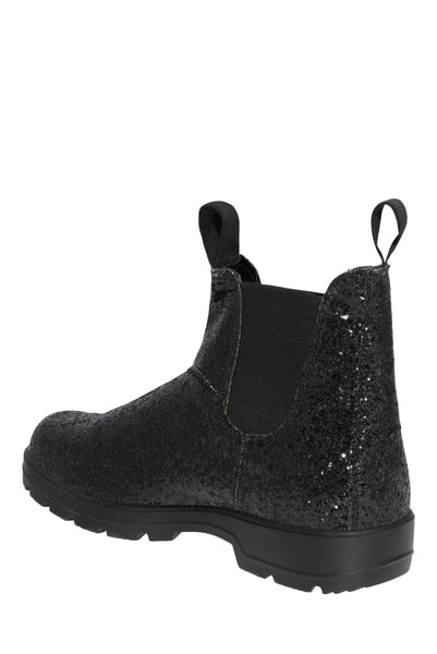 Black Glitter Ankle Boots - First Impression UK