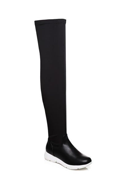 Black Over The Knee Boots - First Impression UK