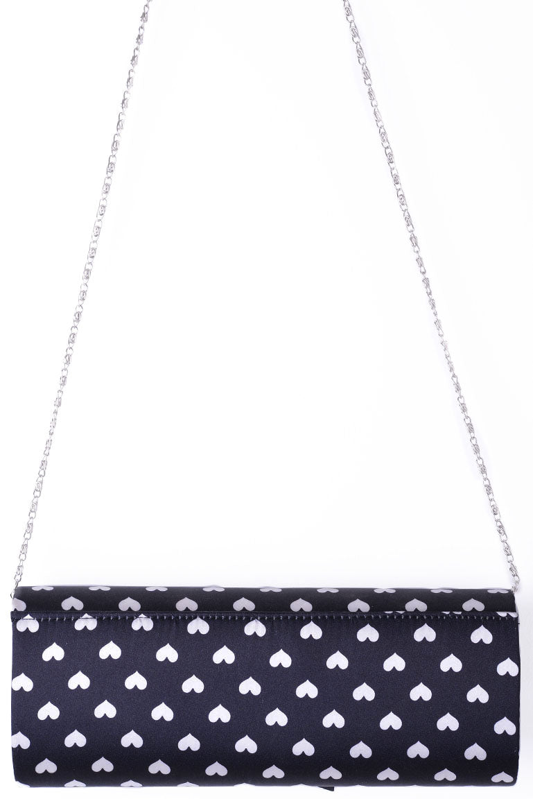 Clutch Bag With Ribbon In Black