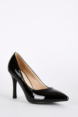 Patent High Pointed Court Shoes
