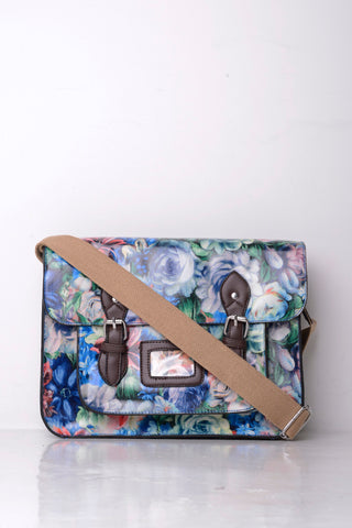 All-Over Floral Print Satchel in Floral - First Impression UK