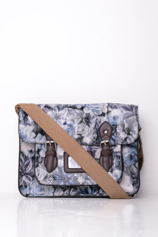 All-Over Floral Print Satchel in Grey - First Impression UK