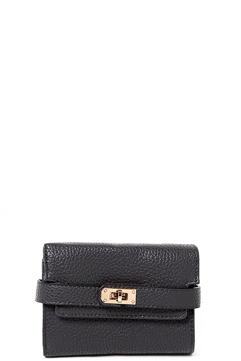 Buckle Detail Mini Purse in Grey, Purses - First Impression UK