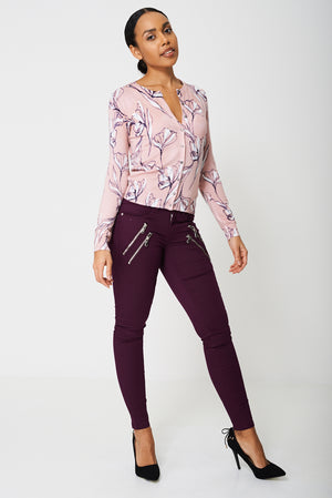 BIK BOK Super Skinny Purple Jeans, Jeans & Trousers - First Impression UK