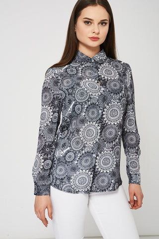 Abstract Pattern Monochrome Shirt, Shirts & Blouses - First Impression UK