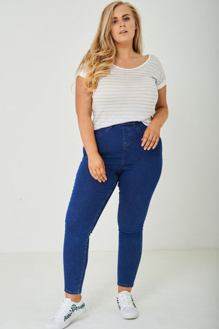 PLUS SIZE Blue Skinny Jegging Ex Brand