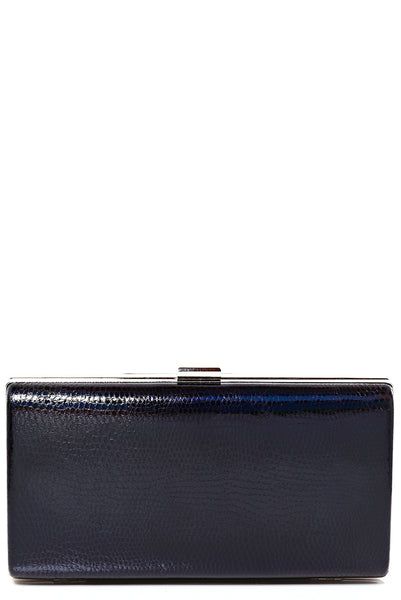 Black Holographic Box Clutch Bag