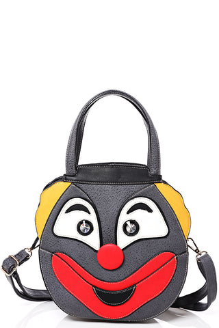 Clown Face Bag in Grey