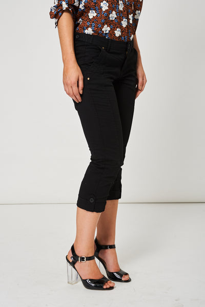 Black Crop Trousers Available In Plus Sizes - First Impression UK