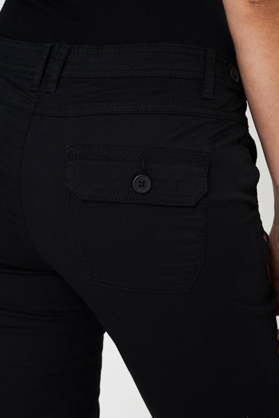 Black Capri Trousers, Jeans & Trousers - First Impression UK