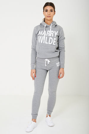 Harry Wilde Logo Hoodie In Grey - First Impression UK