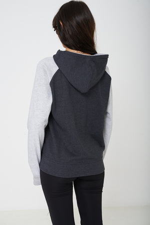 Active Color Block Jumper with Hoodie Ex Brand, Tops - First Impression UK
