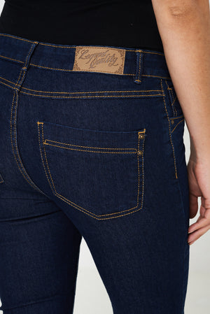 Ladies Crop Jeans in Navy