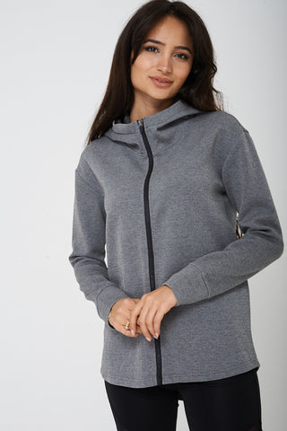 Active Grey Jacket with Hoodie Ex Brand